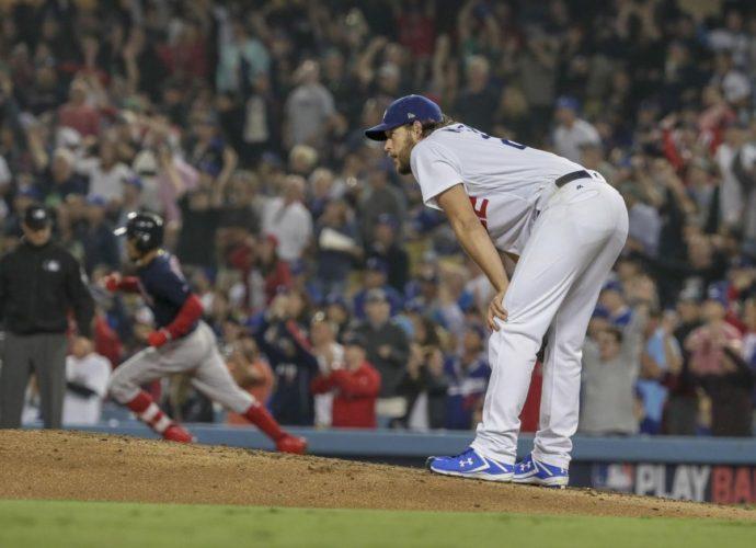 Clayton Kershaw on the mound (Photo Credit LA Times)
