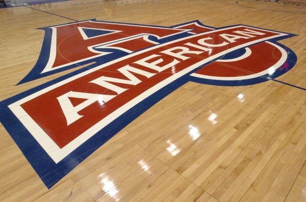 AU Logo on floor at Bender Arena