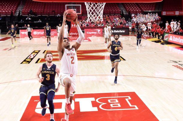 Wiggins Dunk vs LaSalle - Photo Credit: Maryland Athletics