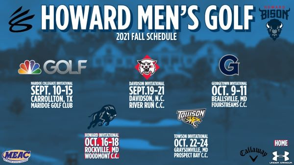 Howard University Men's Golf Schedule