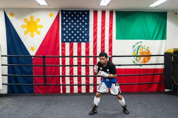 Pacquiao training