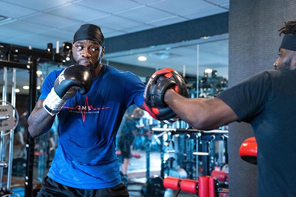 Deontay Wilder training