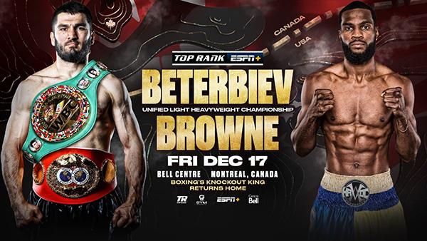 Artur Beterbiev-Marcus Browne Fight Poster