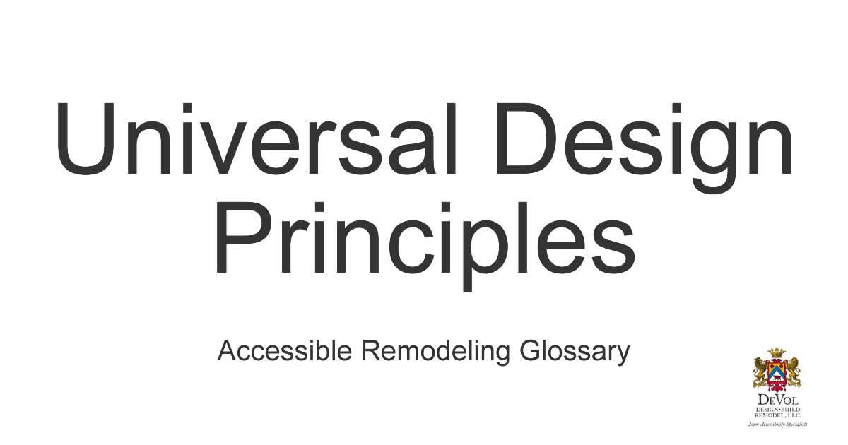 Universal Design principles