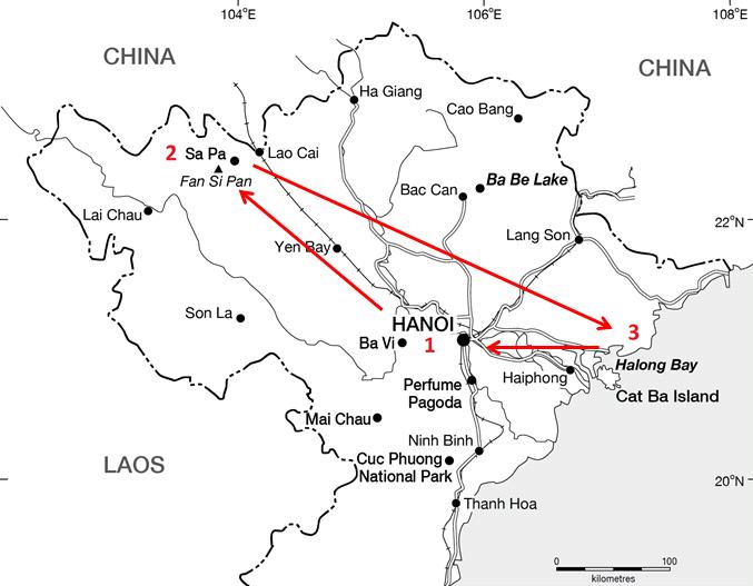 Vietnam-North-Map