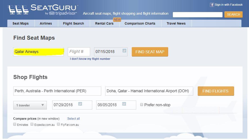 airplane seats - seatguru seat map - S1