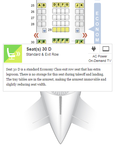 airplane seats - seatguru seat map - S4