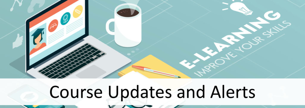 course updates and alerts