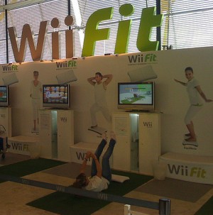 WiiFit at the airport