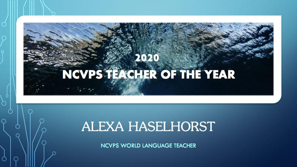 NC Virtual Teacher of the Year Alexa Haselhorst