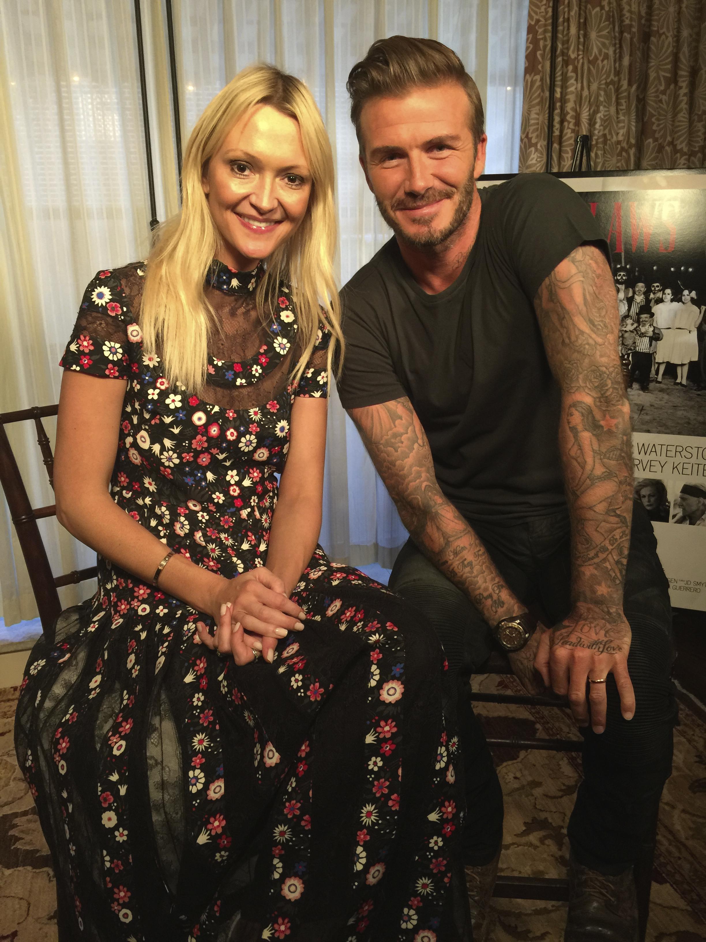 Zanna and David Beckham