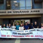 Servidores do Judiciário de Venâncio aderem a paralisação estadual