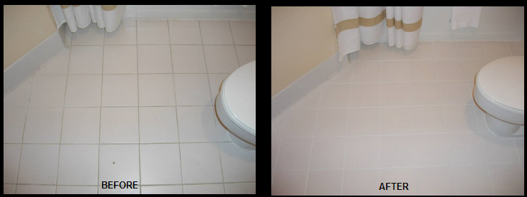 Commercial Grout Color and Cleaning
