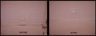 Bathroom caulk and grout mold cleaned