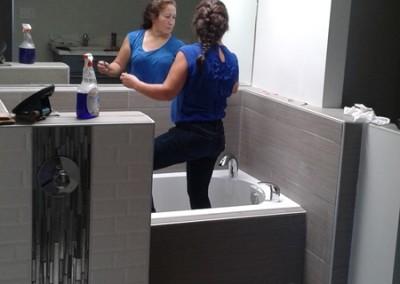 Bathroom Mirror Installation