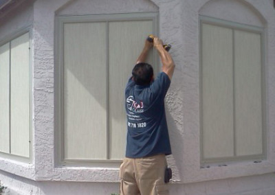 R-J Glass Sun Screen Installation