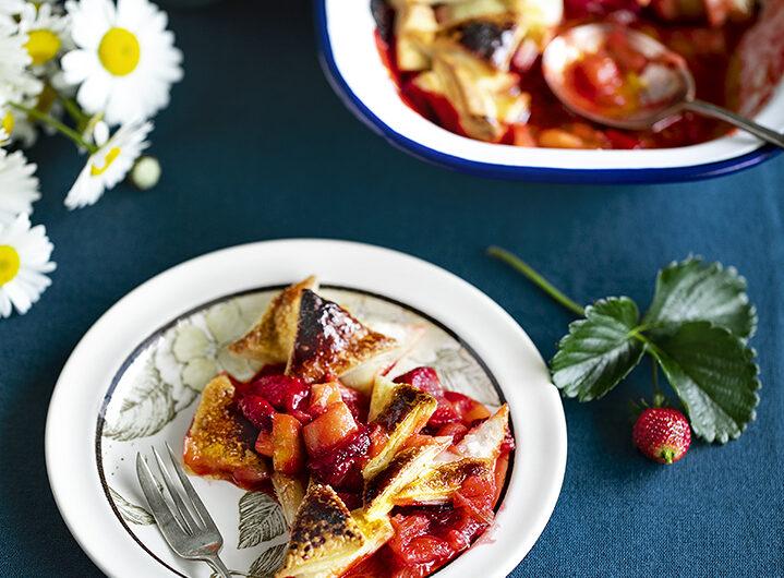 Strawberry Rhubarb Pandowdy.
