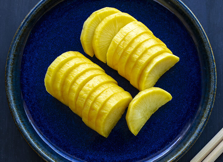 "Japanese Pickled Air-dried Daikon ""Takuan"" (easy version)."