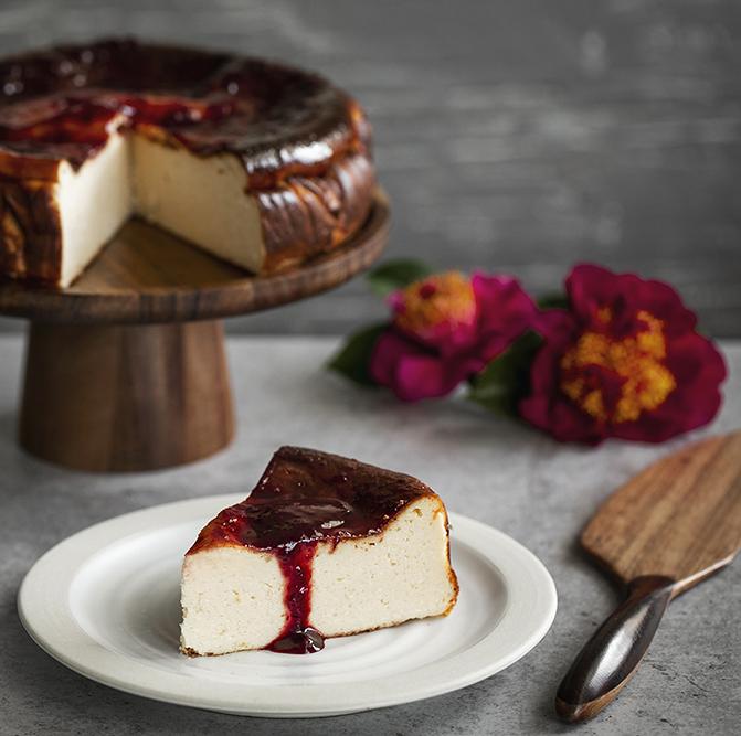 Baked Ricotta Cheesecake with Piri Piri Plum Chutney