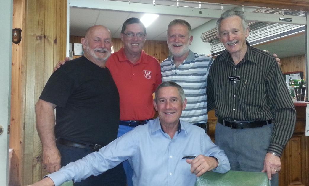 L-R Max Bracegirdle, Greg Allan, Dave Waters, Gill Muir F Steve Barnett