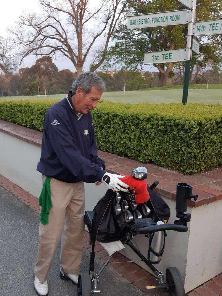 Getting the gear ready is early-bird Roger Kilby