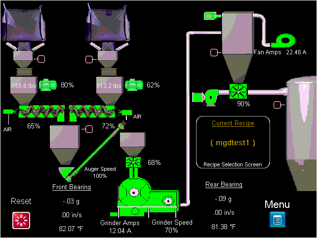 Seed Coating Grinding Main Process Screen