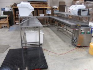 KITCHEN BATCHING SYSTEM, 2 SCALES, BARCODE SCANNER AND PRINTER