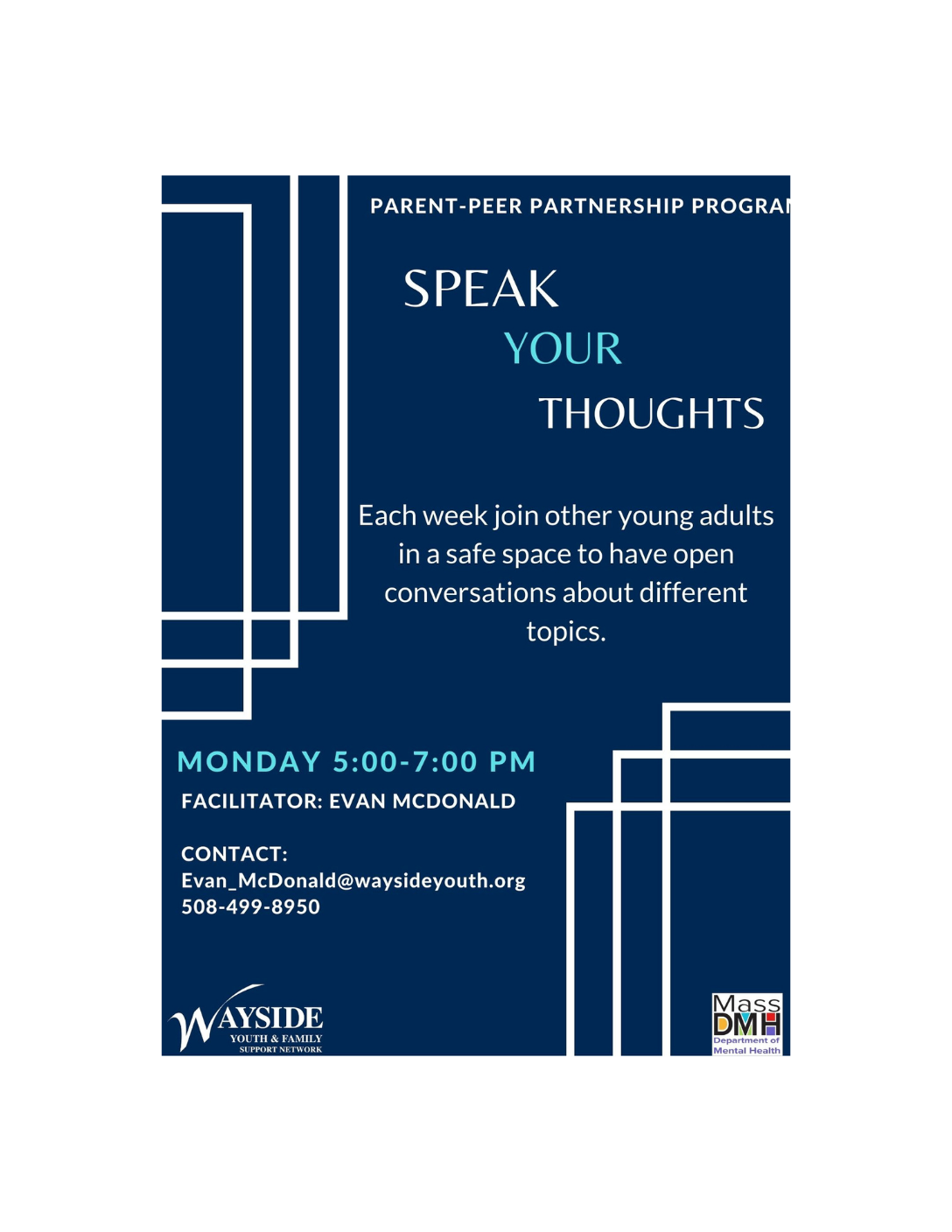 Speak Your Thoughts: Wayside Youth & Family Support Network (Virtual Young Adult Support Group)