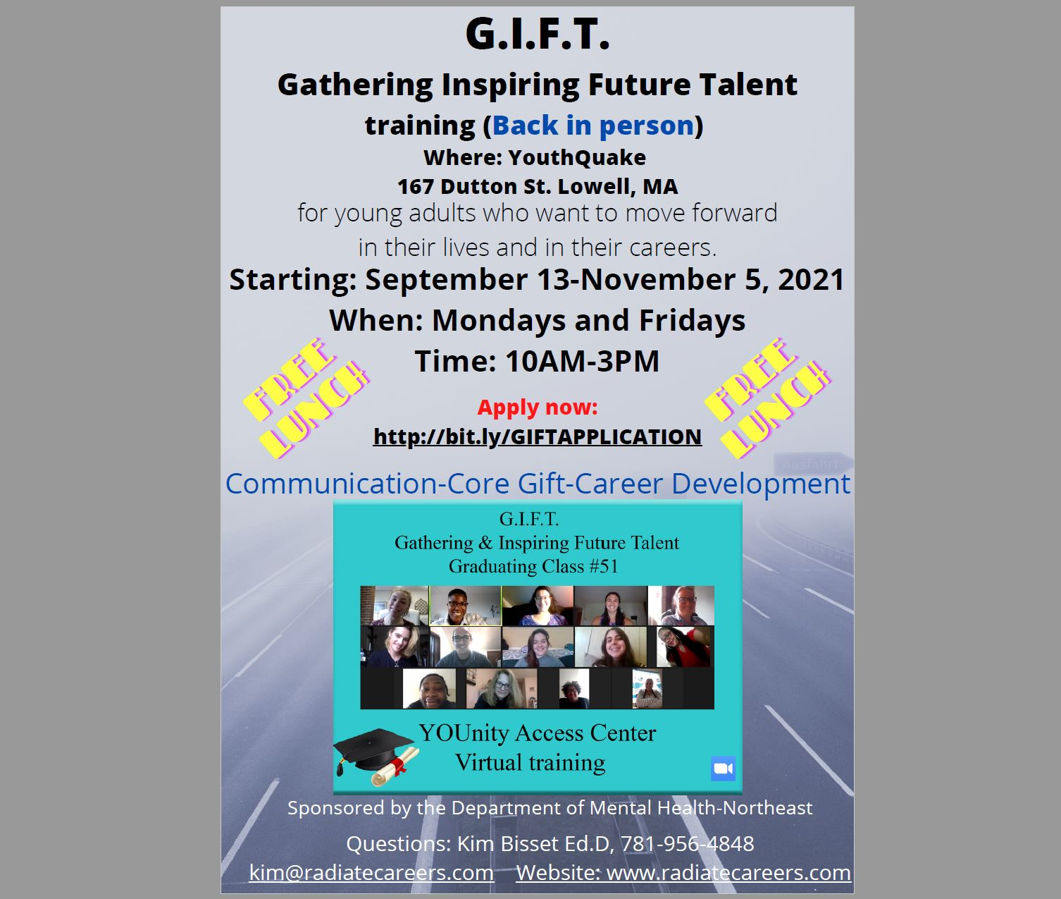 G.I.F.T. (Gathering & Inspiring Future Talent) Training: IN-PERSON at YouthQuake in Lowell - Starting Sept.13, 2021