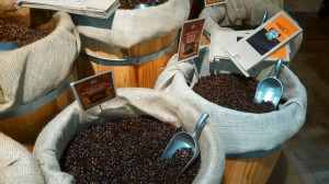 Oily coffee that soaking up the flavors in the air