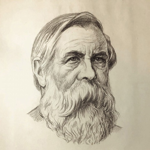 Rudolf-Herrmann-portrait-of-Friedrich-Engels-1930-1