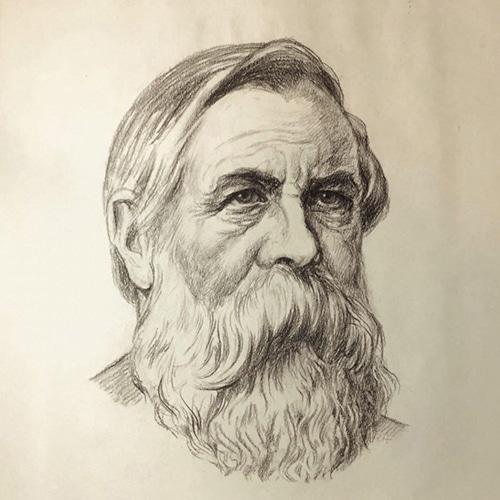 Rudolf-Herrmann-portrait-of-Friedrich-Engels-1930-1