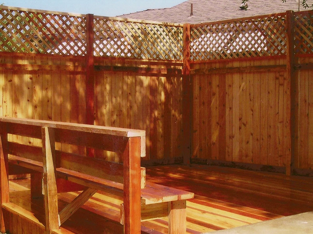 Ed Landscaping Fence and Bench