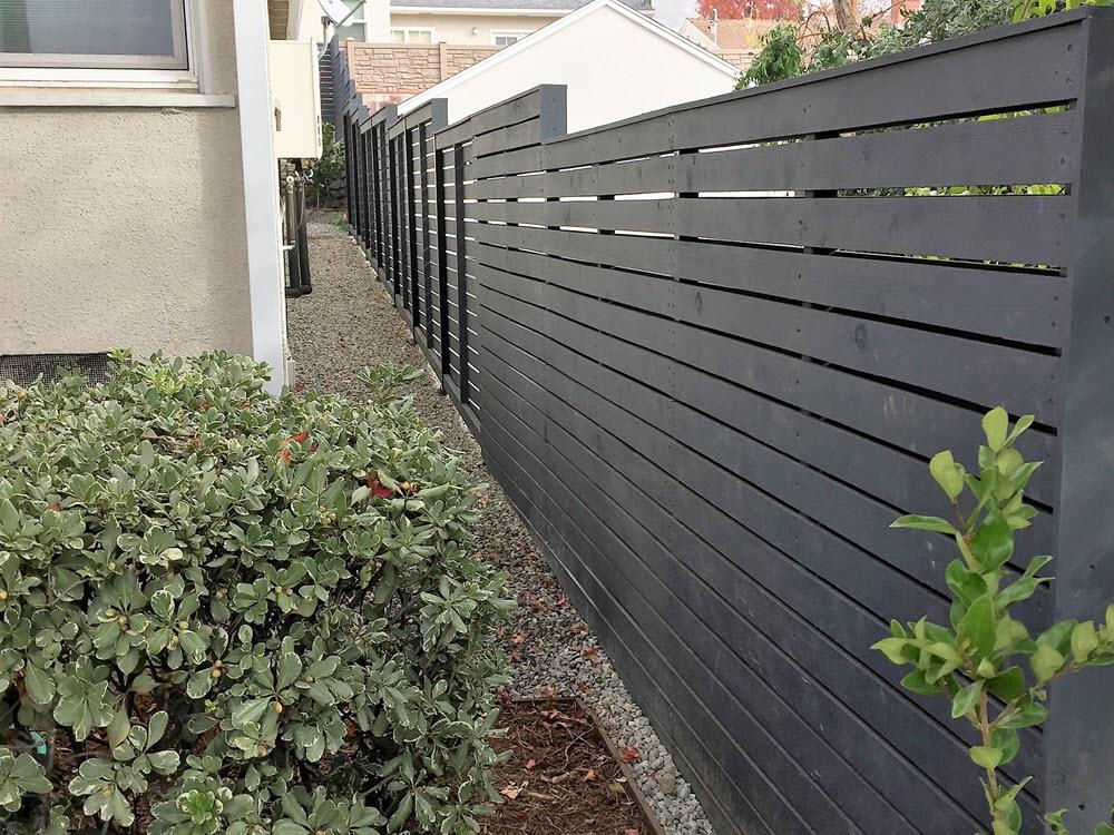 Ed's Landscaping Fence Horizontal line
