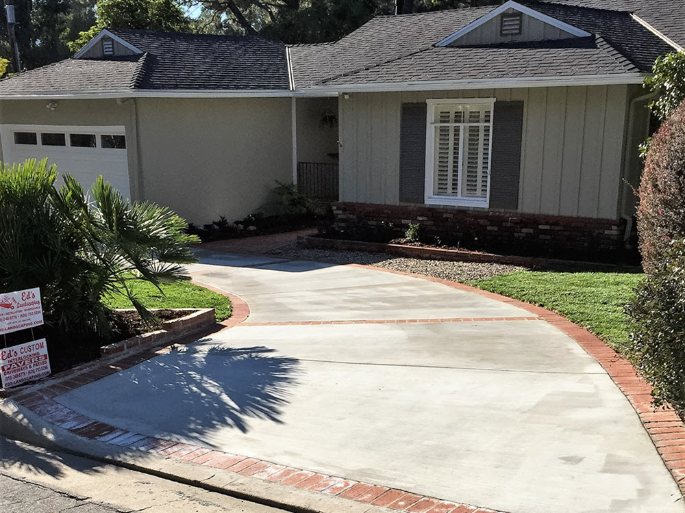 Ed's Landscaping-Cement and Brick Driveway Project