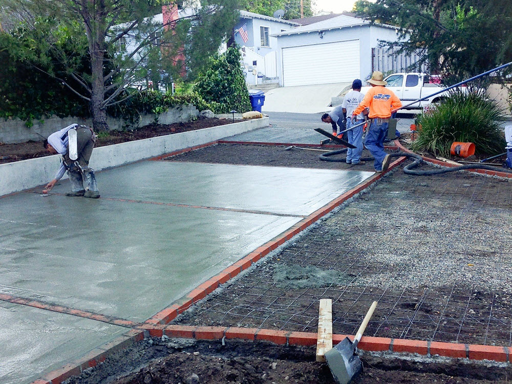 Ed's Landscaping Cement Driveway Project Underconstruction