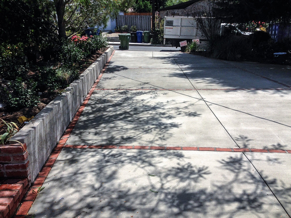 Ed's Landscaping Cement Driveway Project completed
