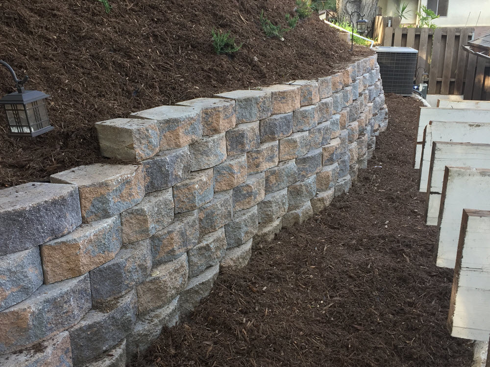 Ed's Landscaping Retaining Wall project in Pasadena