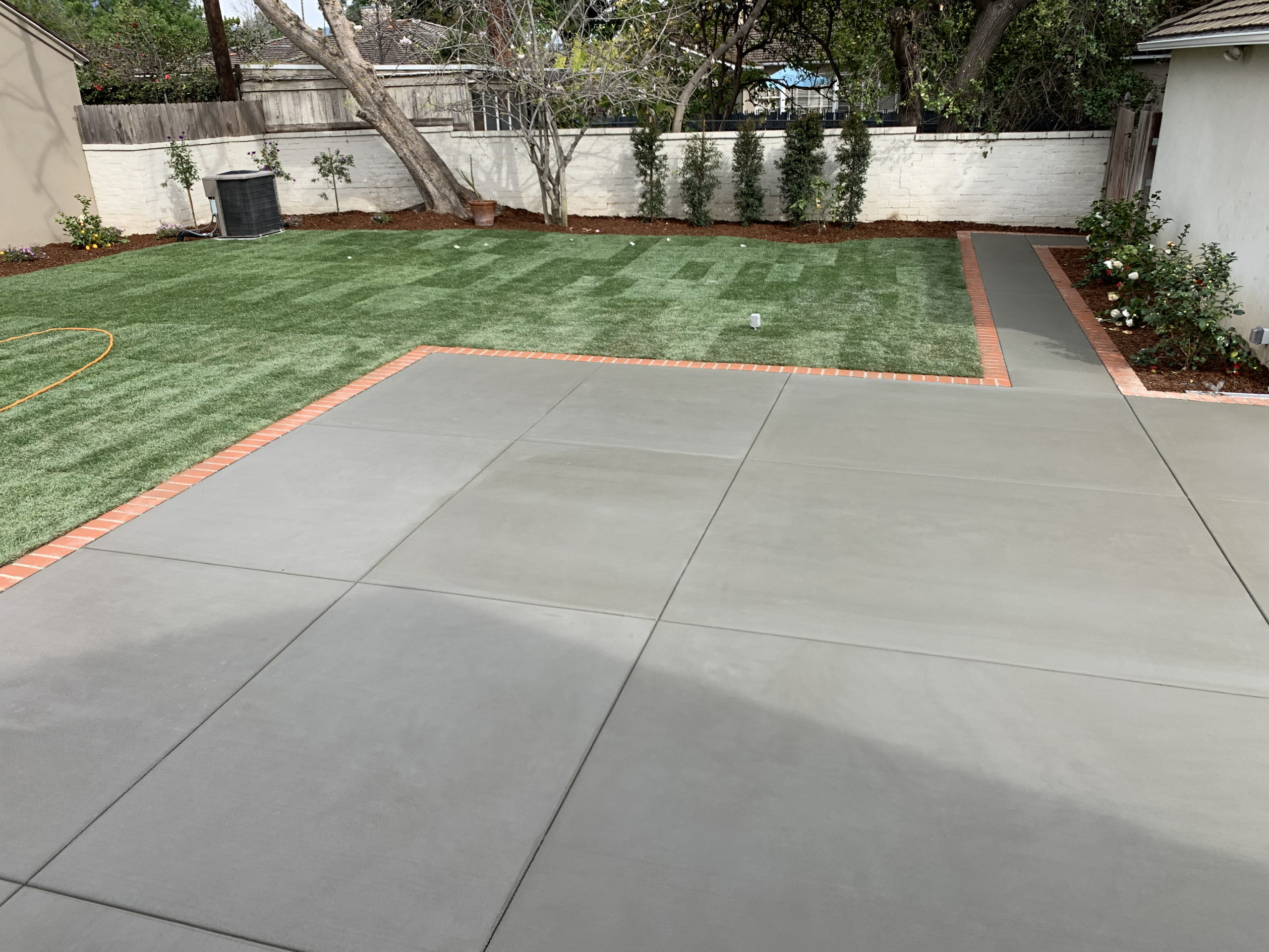 Eds landscaping cement patio and walkway work