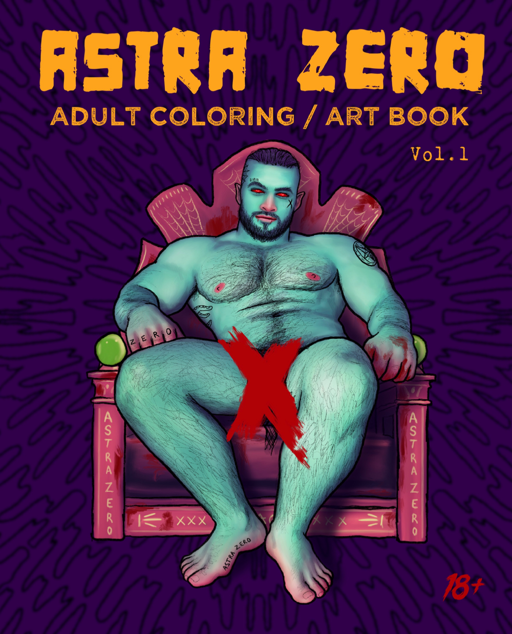 """Featured image for """"Astra Zero : Adult Coloring / Art Book Vol.1"""""""