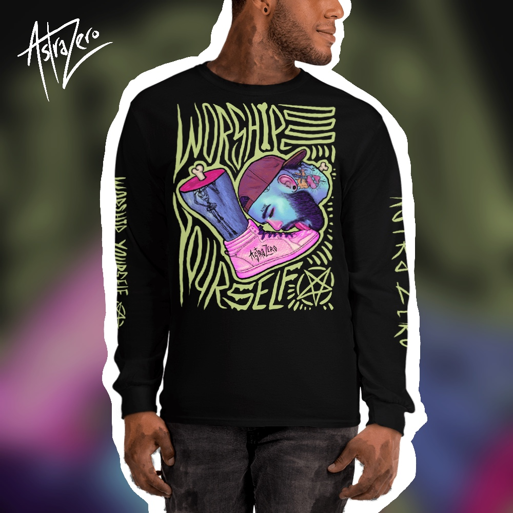 """Featured image for """"Worship Yourself ( Lick ) - Men's Long Sleeve Shirt"""""""