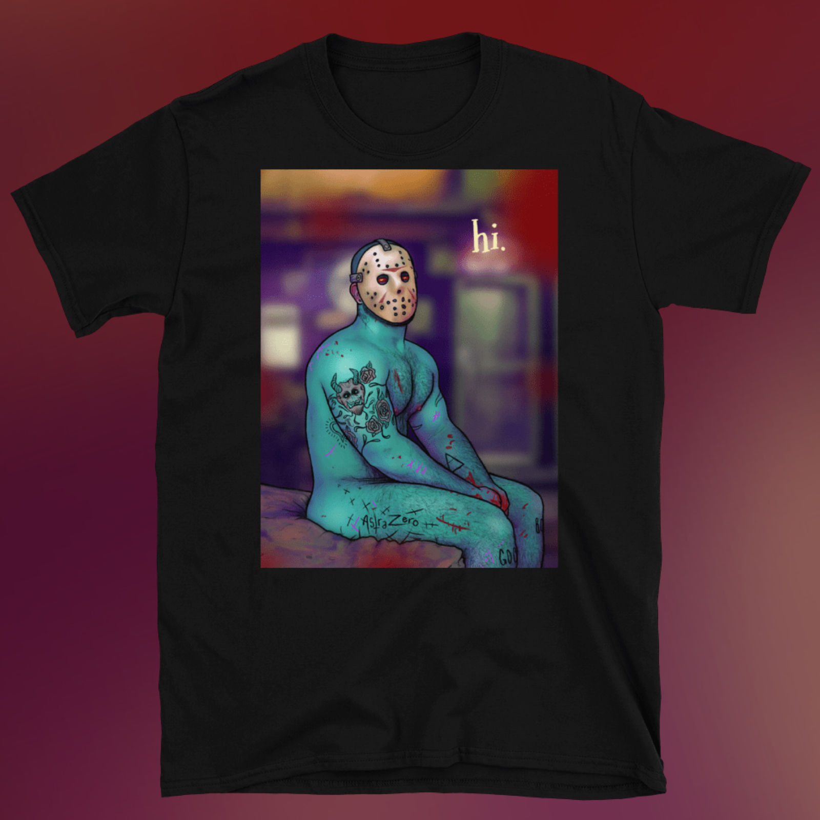 """Featured image for """"Shy Friday the 13th - Short-Sleeve Unisex T-Shirt"""""""