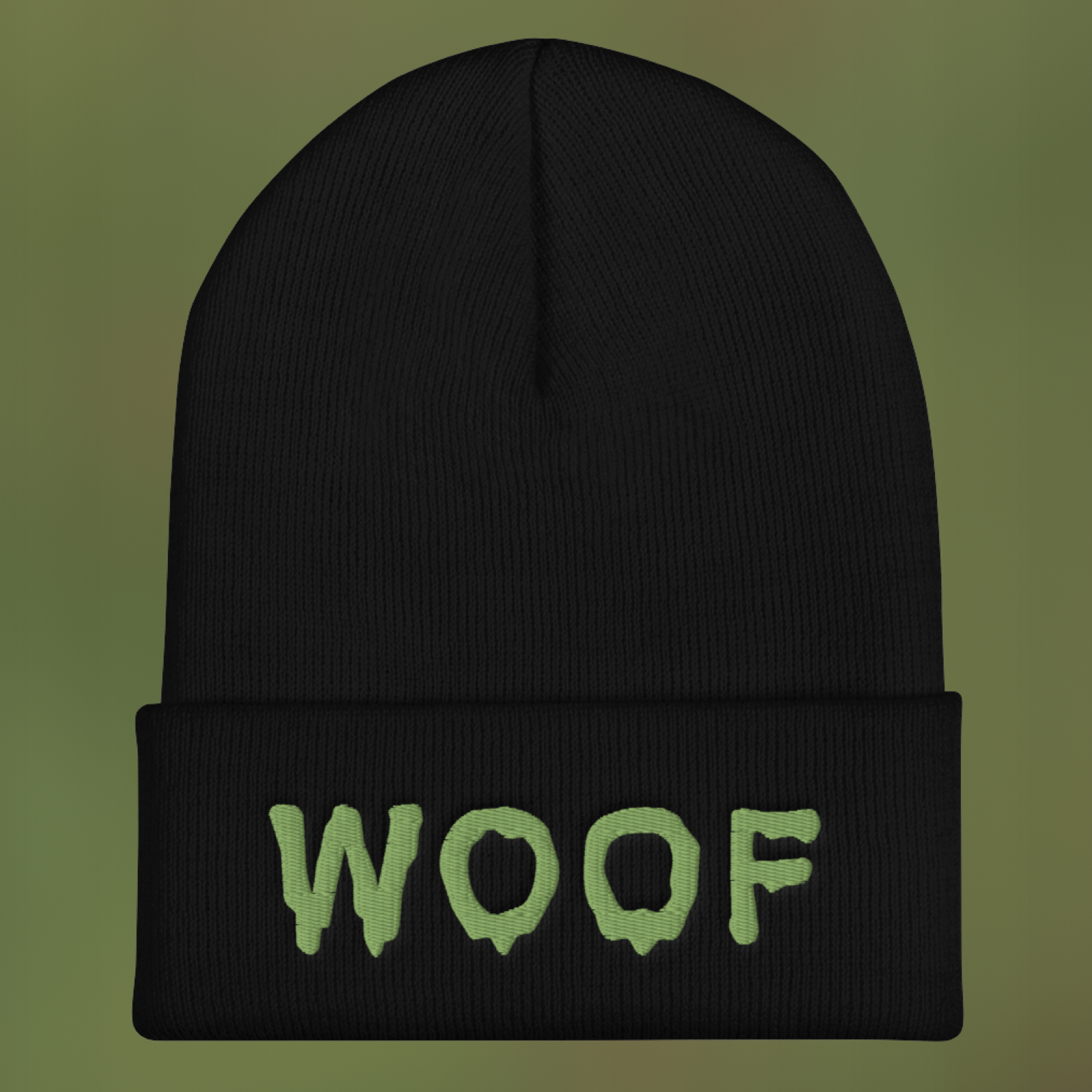 """Featured image for """"WOOF - Cuffed Beanie"""""""