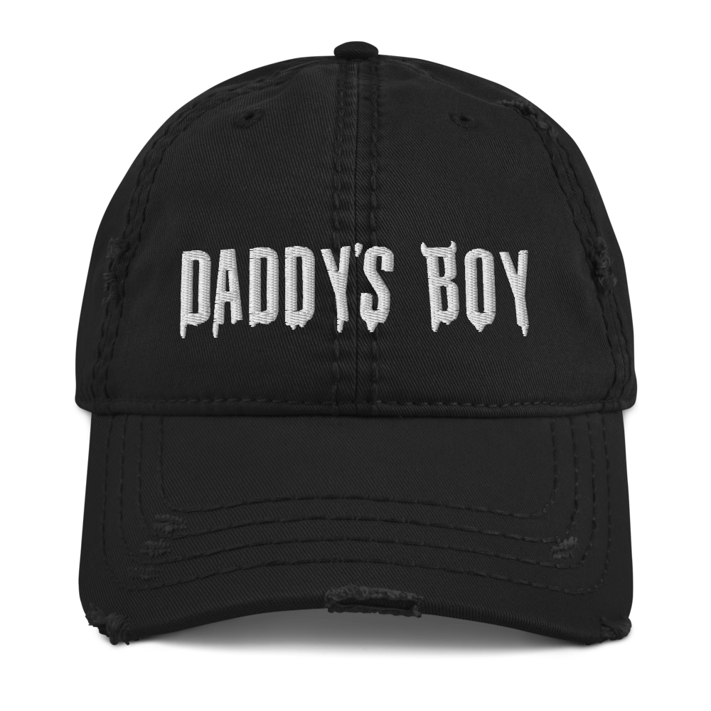 """Featured image for """"Daddy's Boy - Distressed Dad Hat"""""""