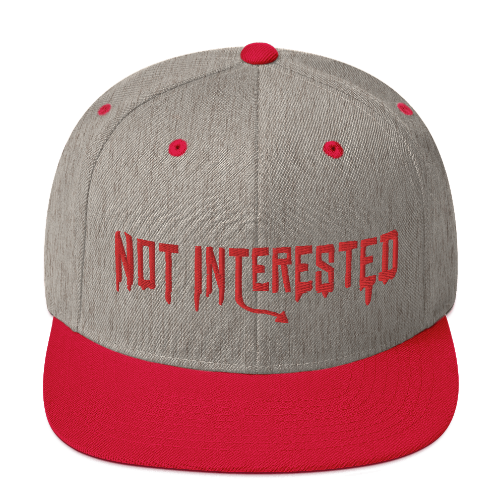 """Featured image for """"Not Interested - Snapback Hat"""""""