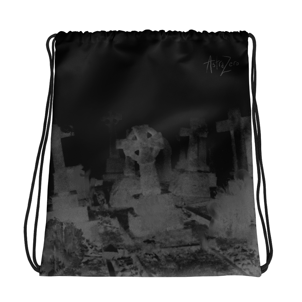 """Featured image for """"Grave Noize - Drawstring bag"""""""