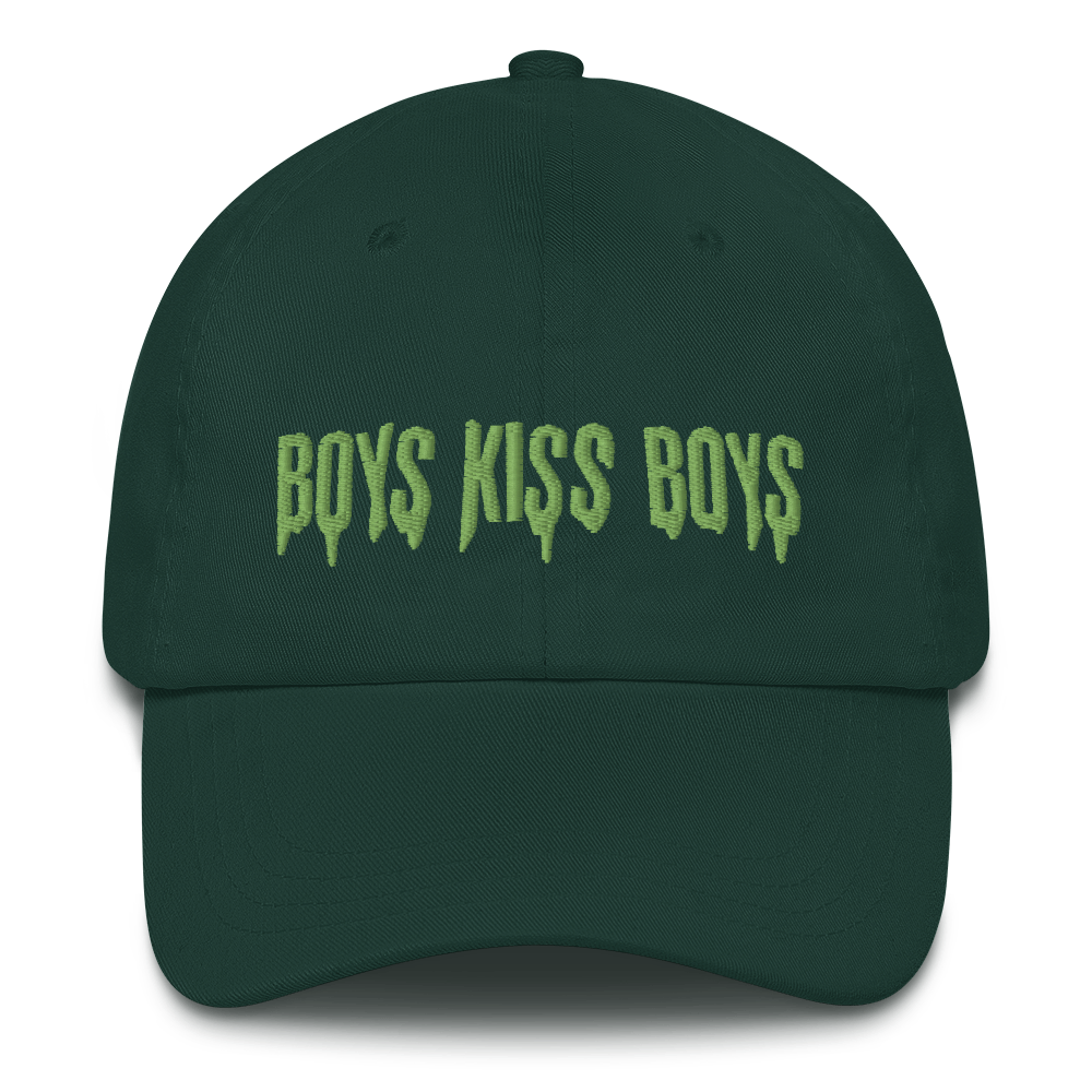 """Featured image for """"Boys Kiss Boys - Zombie Green - Dad hat"""""""