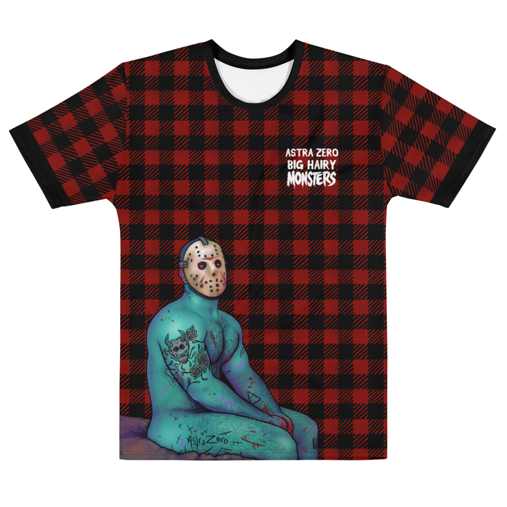 """Featured image for """"Big Hairy Monsters ( faux plaid ) - Men's T-shirt"""""""
