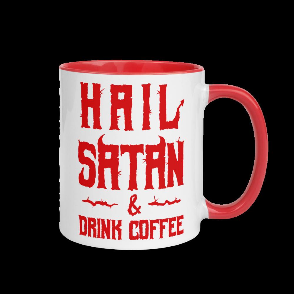 "Featured image for ""Hail Satan Drink Coffee - Mug"""