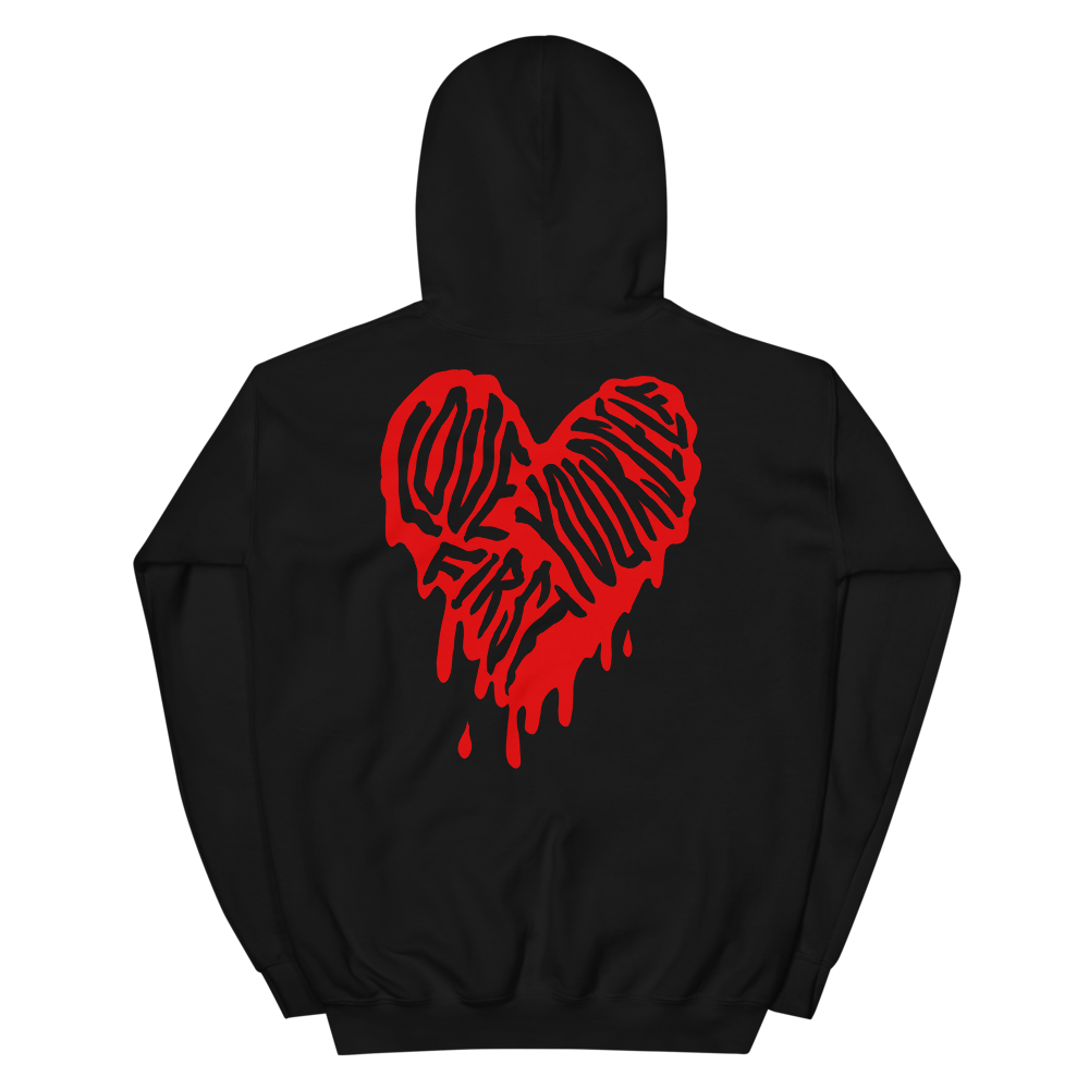 """Featured image for """"Love Yourself First - Unisex Hoodie"""""""